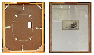Museum quality wooden frame