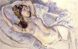 nude art by Jules Pascin